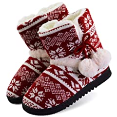 fa79a3ae5daf Women s Plush Lining Outdoor Booties Fuzzy Fur Indoor Slipper .