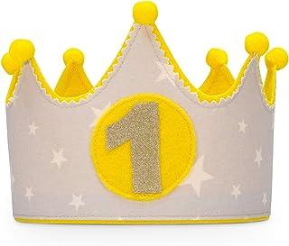 Kembilove Corona de tela para Cumpleaños Infantil de Bebé – Corona Tela Cumpleaños – Corona Cumpleaños Infantil – Corona P...