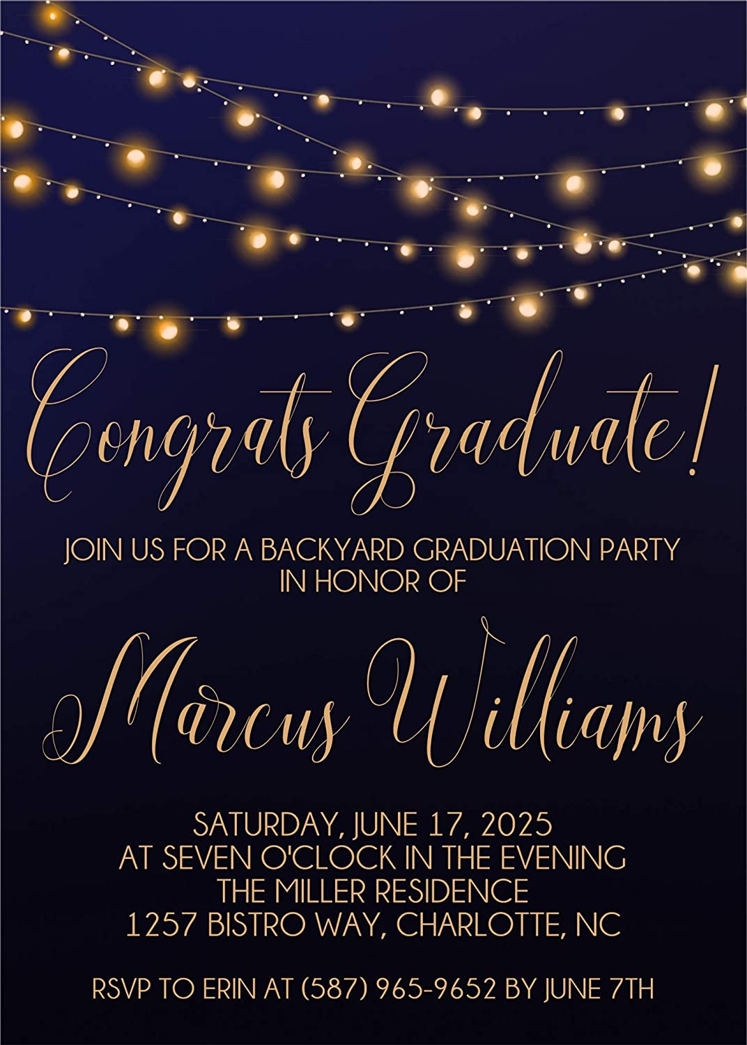 Backyard Graduation Party Invitations Gradu With Home Envelopes Online Recommendation limited product