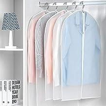 Clothes Covers 5PCS Clothes Hanging Garment Dress Clothes Suit Coat Dust Cover Home Storage Bag Pouch Case Organizer Wardr...