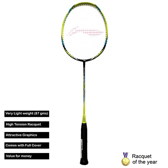 Li-Ning TURBOX80II Graphite Badminton Racquet (Black/Green)