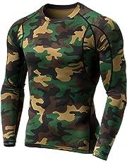 (テスラ)TESLA メンズ オールシーズン 長袖 ラウンドネック スポーツシャツ [UVカット・吸汗速乾] MUD