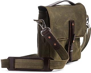 Saddleback Leather Canvas Indiana Gear Bag - Scottish Waxed Canvas Satchel Bag with 100 Year Warranty