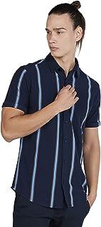 Iconic Men's 2300365 ETHAN Regular Shirt, Blue