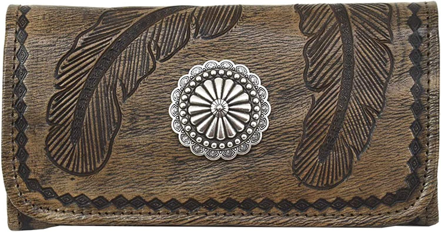 American West Sacred Bird Leather Tri-Fold Wallet Genuine Ranking TOP15