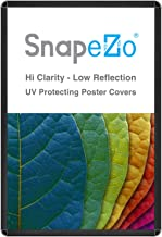 SnapeZo Movie Poster Frame 27x40 Inches, Black 1.25 Inch Aluminum Profile, Round-Cornered, Front-Loading Snap Frame, Wall Mounting, Professional Series for One Sheet Movie Posters