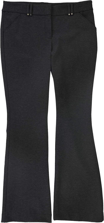 Alfani Womens Ponte-Knit Casual Trouser Pants, Grey, 8