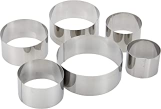 Harmony Set of 6 Cookie Cutter, Silver, Mixed Material