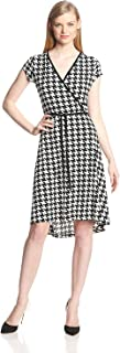 Anne Klein Women's Petite Size Houndstooth Print Dress