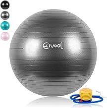 Essentials Ballon de Fitness Suisse Epais Exercice de Yoga Gym Stabilit/é Anti-Explosion avec Pompe /à Main 65cm//75cm UMI