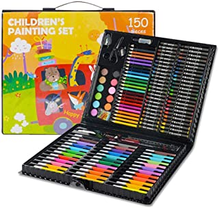 Portable Art Set Kids Kobwa 150 Piece Inspiration Art Case Art Supplies for Drawing Painting with Oil Pastels Crayons Colo...