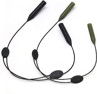 Adjustable Sports Sunglasses Chain Eyeglasses Retainer - 2 Pack Anti Slip Glasses Holder Strap for Women Men Kids