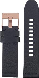 Diesel LB-DZ1841 Cinturino di ricambio per orologio in pelle, 24 mm, nero
