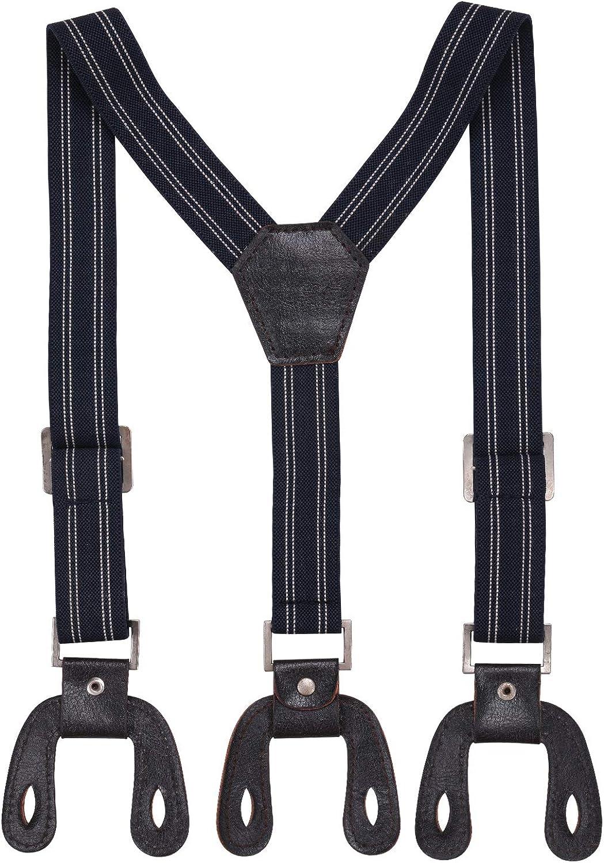 Trimming Shop Men's Suspender Braces With Dark Brown Button Holes