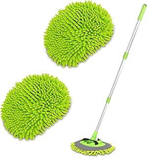"2 in 1 Chenille Microfiber Car Wash Brush Mop Mitt with 45"" Aluminum Alloy Long.."