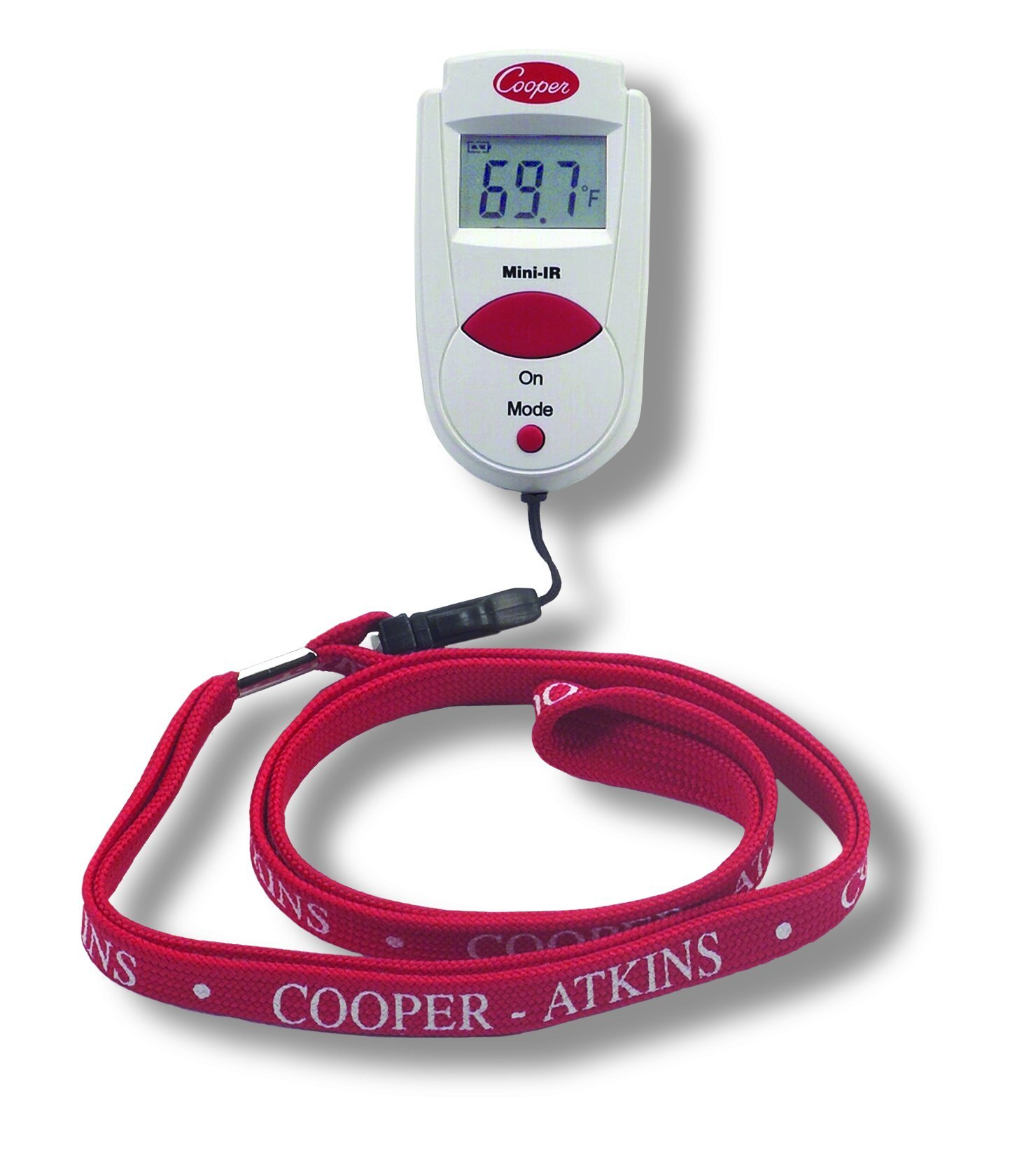 -27//428F Temperature Range by Cooper RoHS and WEEE Certified CE Cooper-Atkins 470-0-8 Digital Mini Infrared Thermometer with Neck Lanyard
