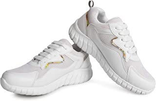 AROOM Women/Girls Perfect Light Weight and Comfortable Sneakers and Running Shoes with Attractive Design and Casual Lace U...