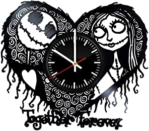 GoodIdea Art The Nightmare Before Christmas Together Forever Vinyl Record Wall Clock, The Nightmare Before Christmas Handmade for Kitchen, The Nightmare Before Christmas Unique Wall Poster