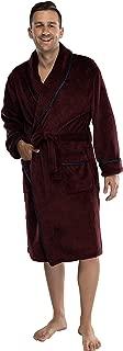 Alexander Julian Mens Super Soft Cozy Plush Robe with Satin Trim