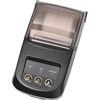 Nyear 58MM プリンター レシート BLE4.0によるワイヤレス接続 NP100 bluetooth プリンター レシート USBおよびBluetooth接続付き スマホアプリ 付き印字繊細 きれい(ブラック)
