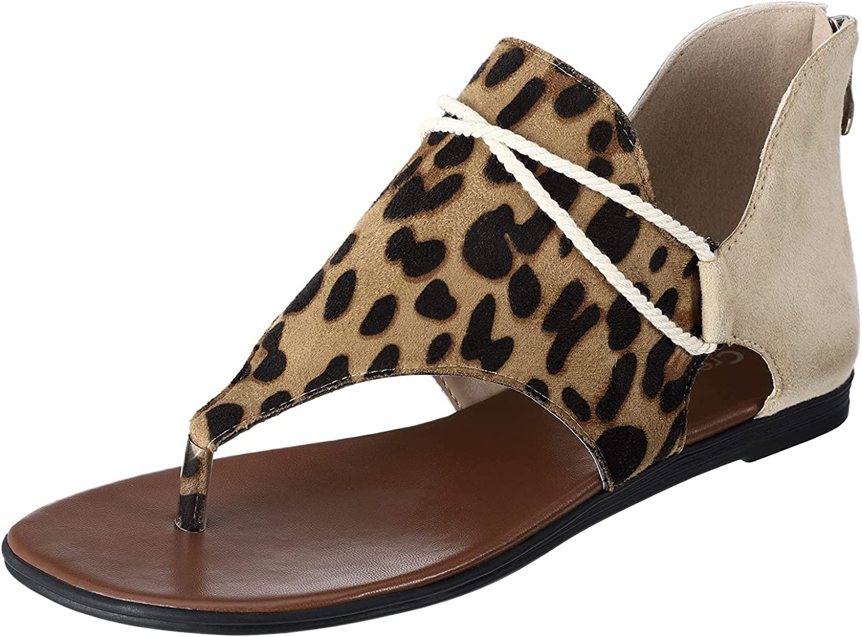 CREPUSCOLO Women's 2021 new Flat Sandals Flip Casual Flops Ranking TOP14 Comfort Summer