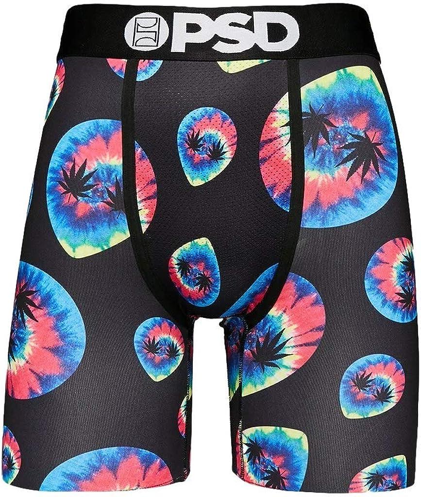PSD Underwear Men's Alien Pot Leaf II Printed Boxer Briefs