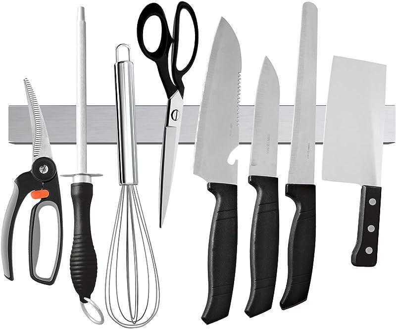 Ouddy Magnetic Knife Holder 16 Inch Stainless Steel Magnetic Knife Strip Magnetic Knife Bar Rack Block For Kitchen Utensil Holder Art Supply Organizer Tool Holder