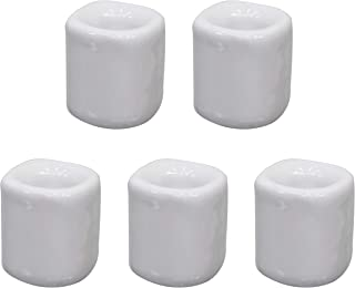 (5, White) - 5 pcs Ceramic Chime Ritual Spell Candle Holders - White