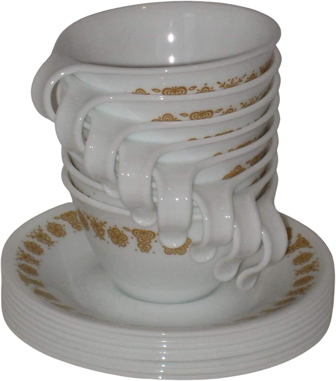 SET OF 8 - Vintage 1970's Ware Corning Gold [Alternative dealer] Corelle Cu price Butterfly