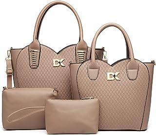 Diana Korr Women's Shoulder Bag with Handbag (Khaki) (Set of 4)