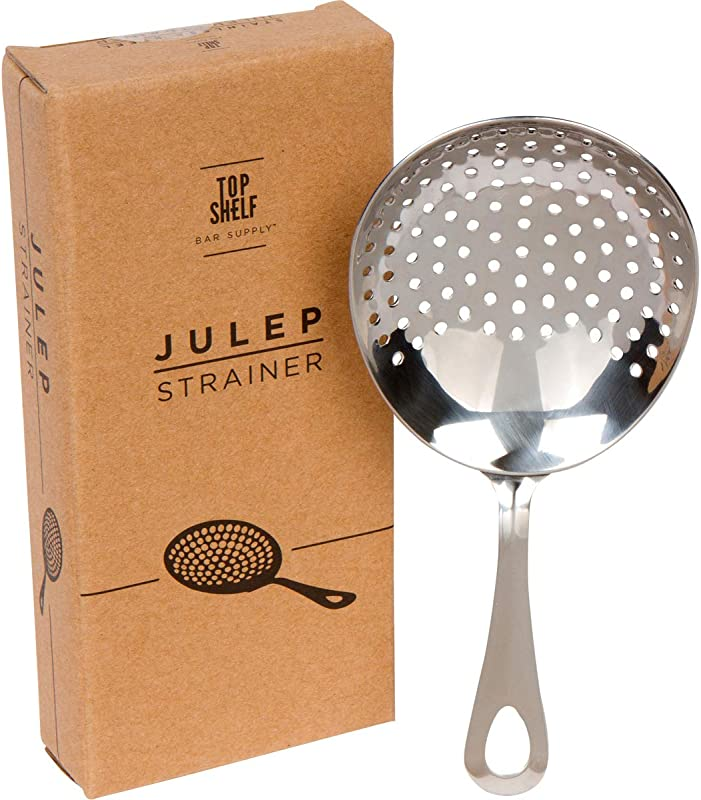 Julep Strainer Stainless Steel SS304 Cocktail Strainer By Top Shelf Bar Supply
