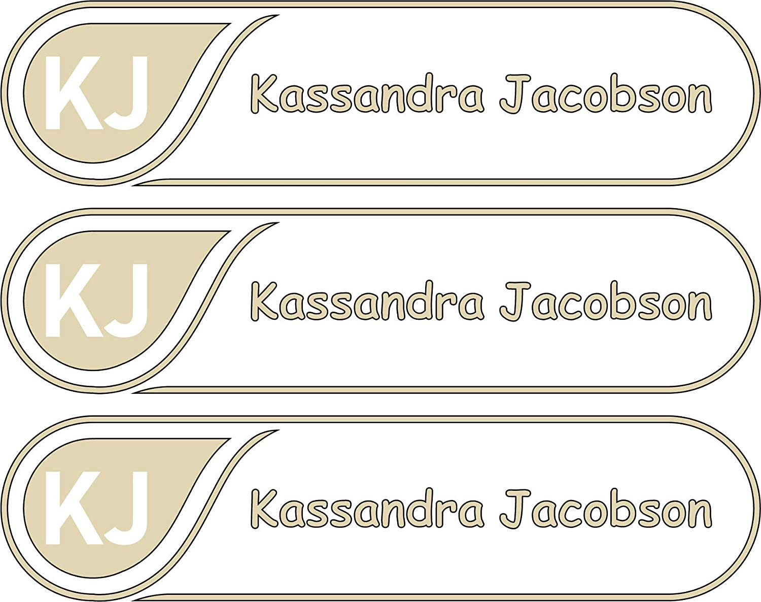 All-purpose Custom Name Labels Cheap Free Shipping New super special price Col Multiple And Initials