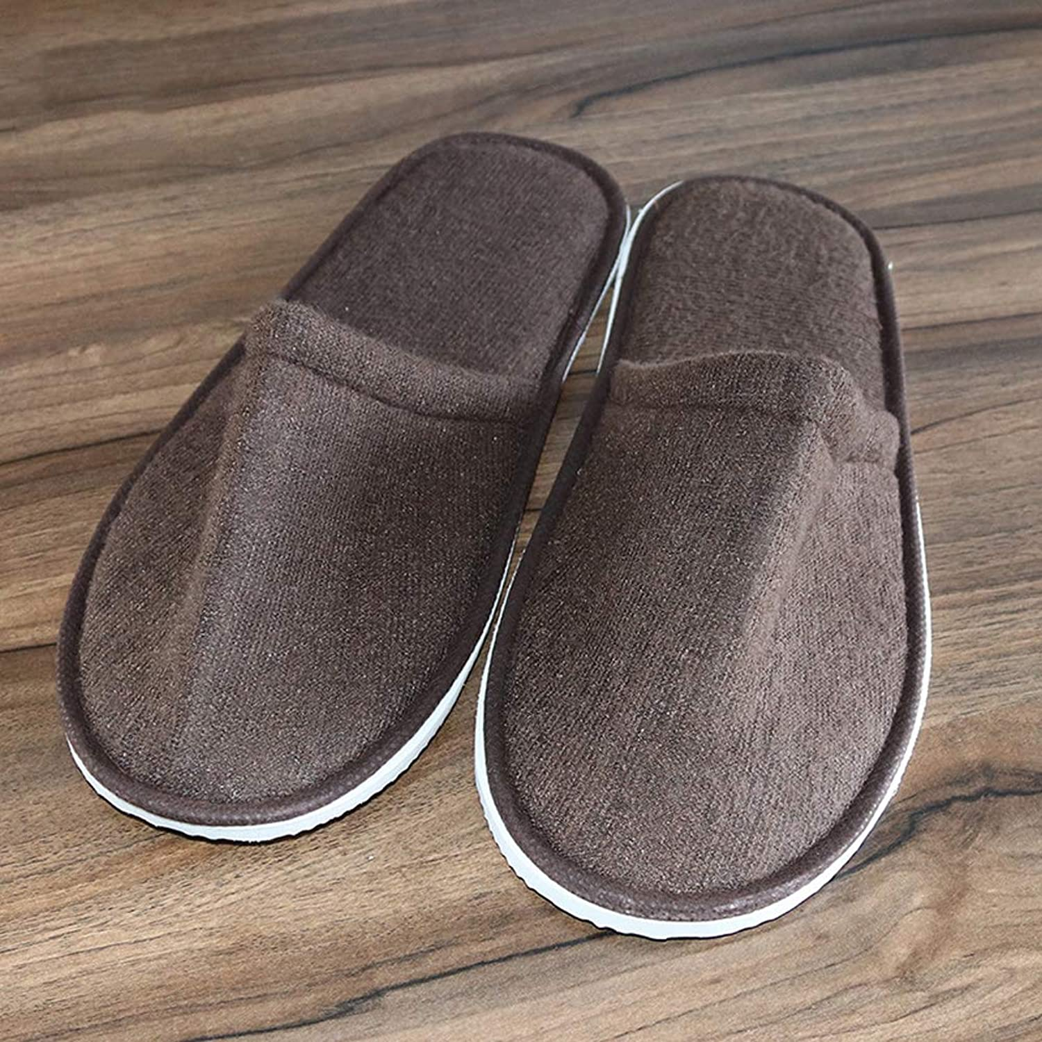 Hotel Disposable Slippers Disposable Spa Salon Slippers,Men Women Closed Toes- Non-Slip,E,100Pair
