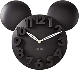 MEIDI CLOCK Modern Design Mickey Mouse Big Digit 3D Wall Clock Home Decor Decoration – Black