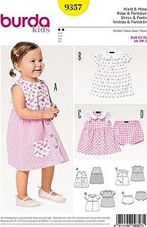 Burda 9357 Schnittmuster Kleid mit Bubikragen und Höschen Kids, Gr. 62-92 Level 2 Leicht