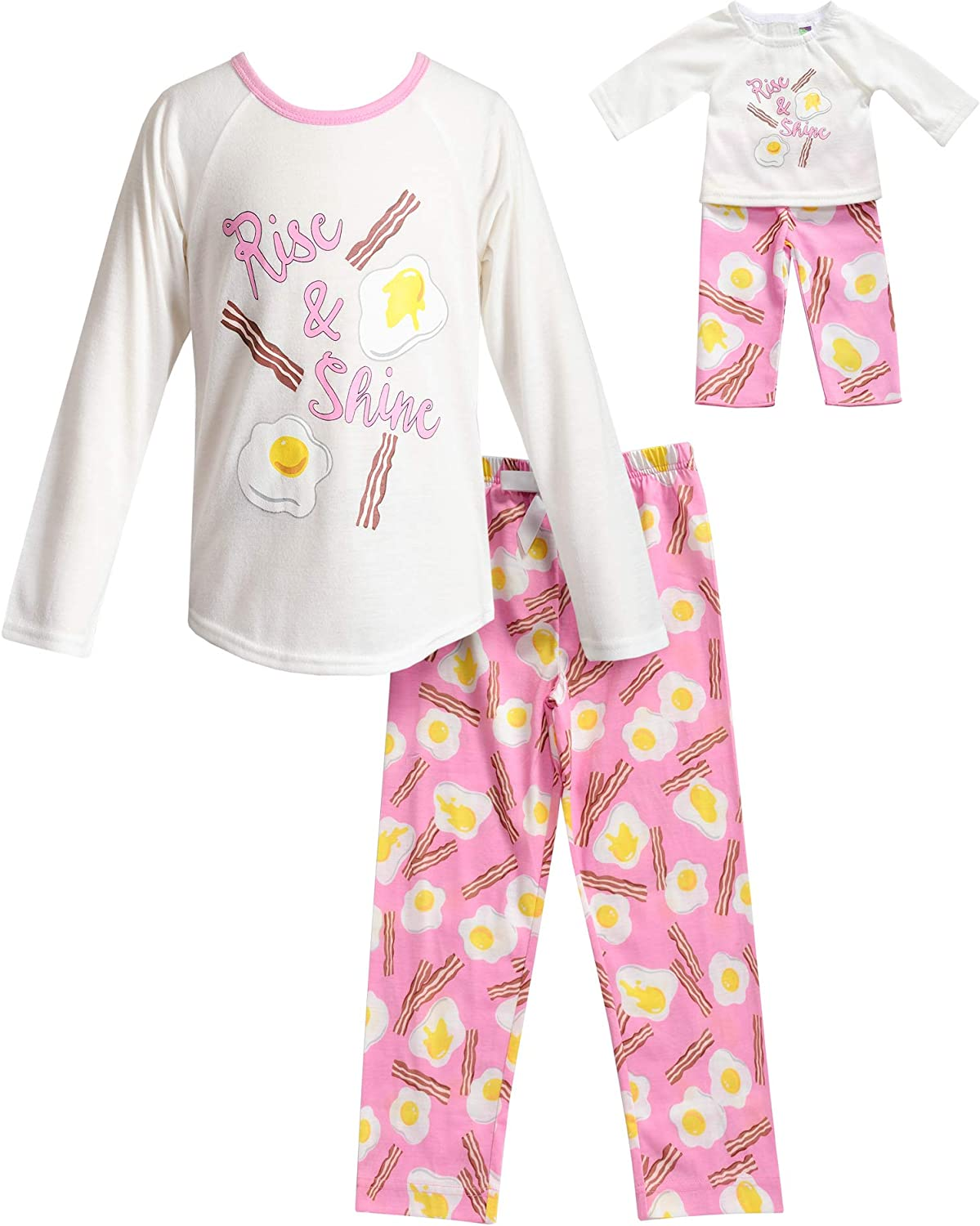 Doll /& Me PJ Sets Choose Design Pink Matching Pajamas for Girl and Dolly  Fitted PJ/'s