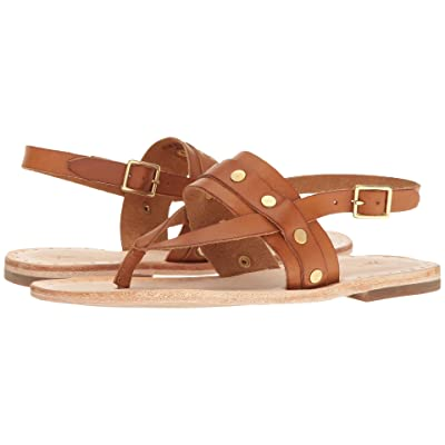 Frye Avery Stud Thong (Tan Smooth Full Grain) Women