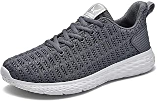 Bjyun Mens Walking Shoes Athletic Running Shoe Casual Fashion Sneakers Breathable Sports Shoes Men Women