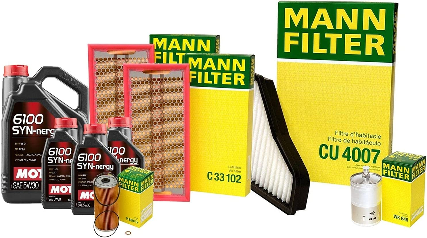 8L 6100 Tucson Mall SYNNERGY 5W30 Oil Filter Compatible with kit Ben Popular popular Service