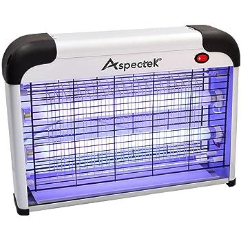 ASPECTEK Lampe UV Anti Insectes Volants. Tue-Mouche Destructeur d' Insectes Electrique 20W. Lampe Anti Moustique Electrique (Lampe Moustique)