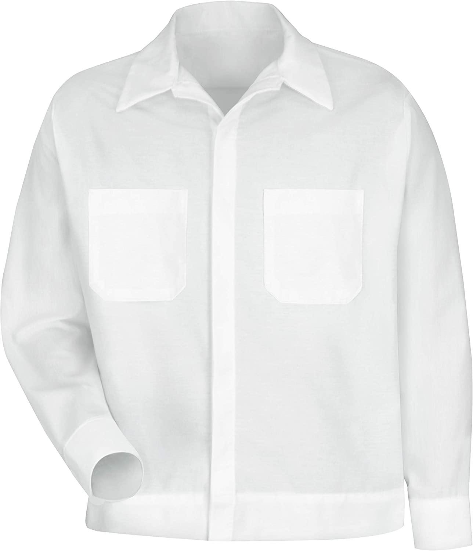 Red Kap Men's Button Front Shirt Jacket