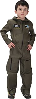 Boys Air Force Fighter Pilot Role Play Halloween Cosplay Costumes Set Jumpsuit