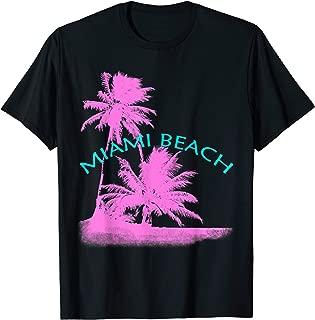 Miami Beach Florida Pink Palm Trees Beach T-Shirt