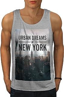 Wellcoda 夢 都市 写真 新しい ニューヨーク 男性用 S-2XL タンクトップ