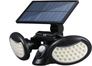 pedkit Lâmpada de parede movida a energia solar Sensor de movimento 3 modos de iluminação dobrável 2 cabeças lâmpada de in...