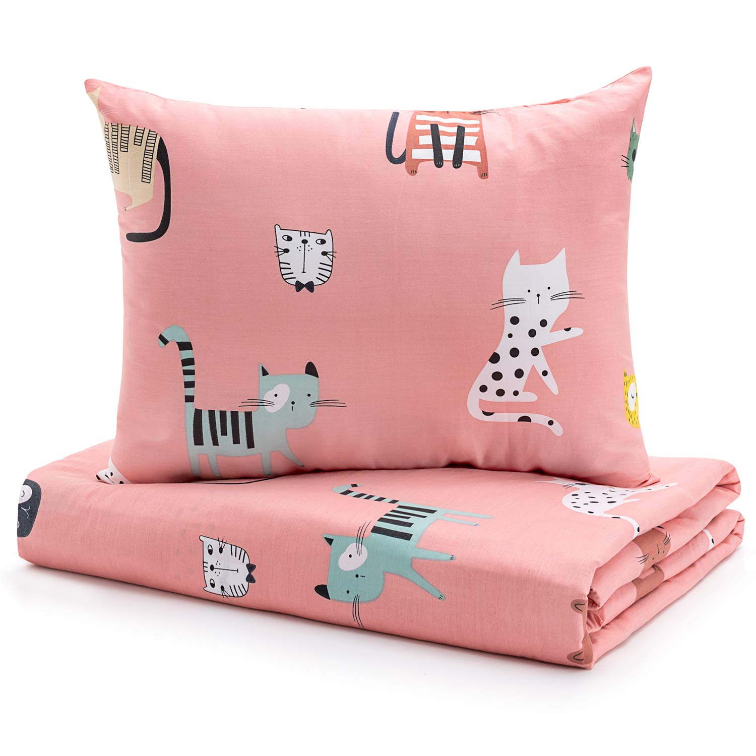 Skin-Friendly 2 Pieces Toddler Bedding Set Gift for Boys and Girls Pink Unicorn Sivio Kids Duvet Cover Set for Kids Weighted Blanket 100/% Cotton 36 x 48 Inch