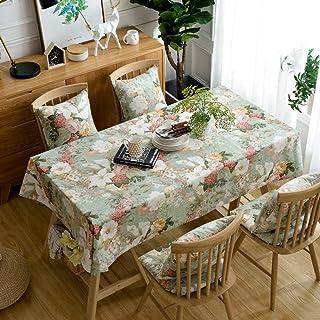 Pahajim Elegante Diseño de Estampado Floral Mantel