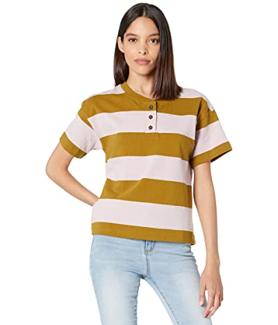 Madewell Parkview Henley Tee in Rugby Stripe