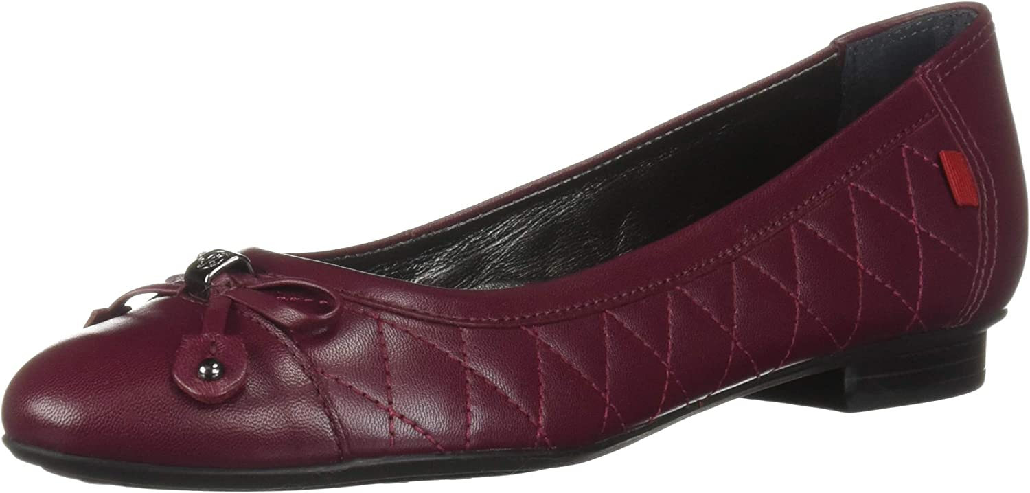 MARC JOSEPH NEW YORK Womens Womens Genuine Leather Made in Brazil Pearl Street Flat Ballet Flat