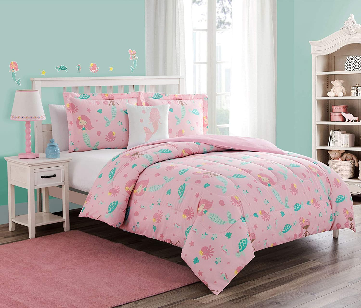 Unbranded Comforter Set, Twin, Pink 3 Each
